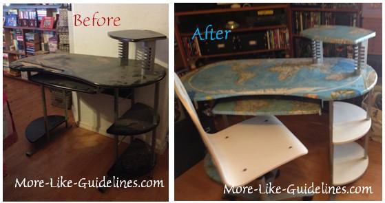 Desk before after 1